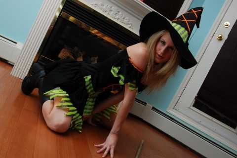 Disfraz de bruja para halloween - 480x320