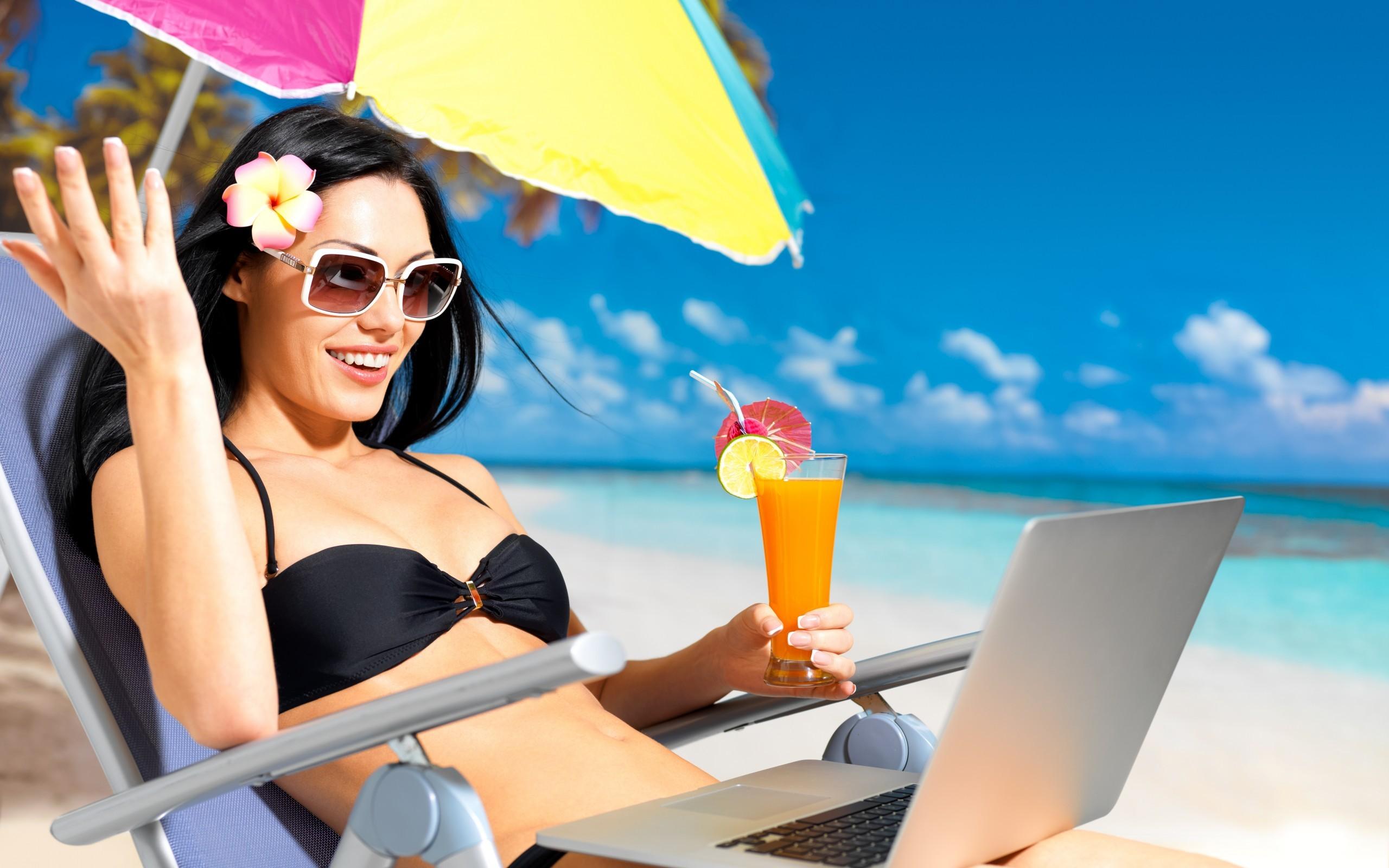 Vacaciones en la playa - 2560x1600