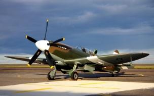 Una avioneta Spitfire