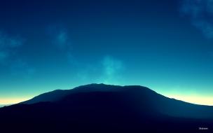 Montañas en el horizonte