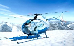 Un helicóptero en la nieve