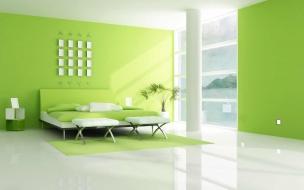 Una sala color verde