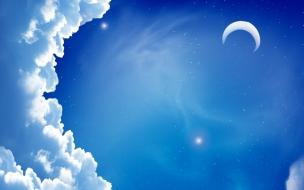 Cielo y nubes en digital