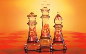 Piezas de ajedrez de vidrio