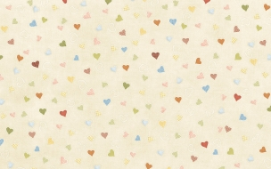 Textura de tela y corazones