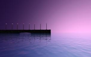 Muelle y mar digital