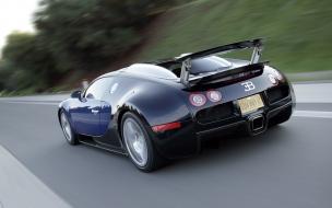 Bugatti Veyron en la carretera