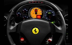 Volante de un Ferrari