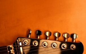 El clavijero de la guitarra