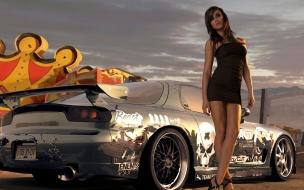 Chicas y autos