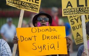 Protestas por guerra con Siria