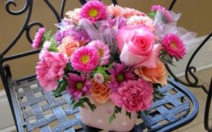 Rosas y flores hermosas