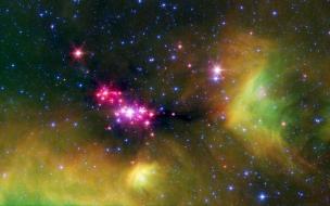 Nube espacial y estrellas