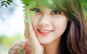 Fotografía de una asiatica