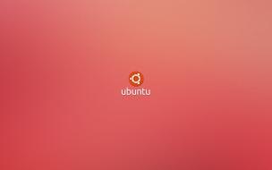 Ubuntu fondo color rosa