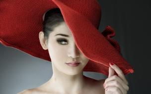 Sombrero rojo de paja
