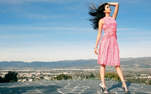 Vestido rosado elegante