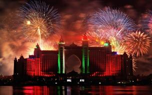 Fuegos artificiales en Dubai 2