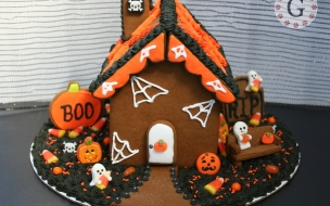 Decoración de torta por halloween