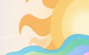 Un dibujo digital del sol