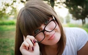 Bella chicas con lentes