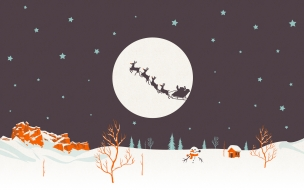 Noche de navidad dibujo