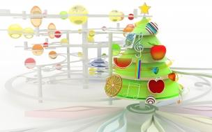 Arbol de navidad en 3D