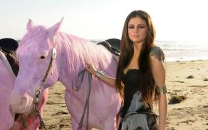 Selena Gomez y caballo