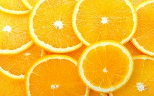 Naranjas partidas x la mitad