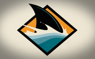 Aleta de tiburón digital