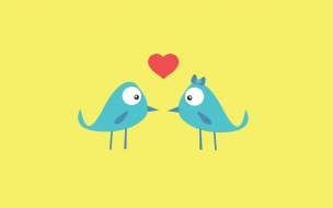 Dos pararitos enamorados