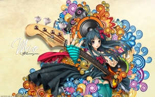 Chicas de anime y guitarras