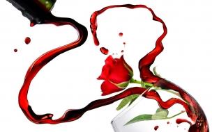 Rosas y vino por San Valentín