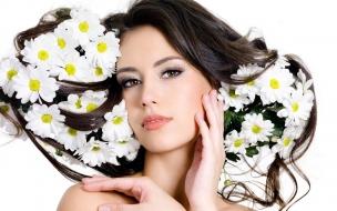 Flores y rostros hermosos