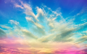 Un cielo de colores