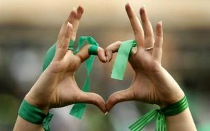 Un corazón para el equipo verde