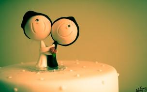 Decoración para torta de novios