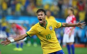 Neymar festejando gol