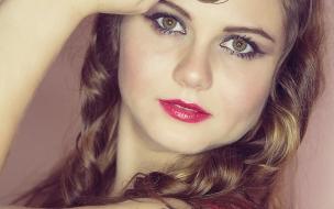 Bella con sus ojos verdes