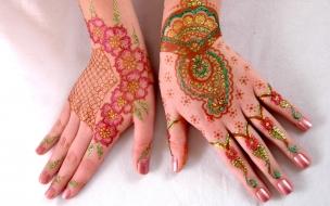 Mehandi, decoración en manos