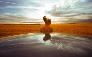 Una chica en el horizonte