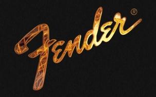 Logo de Fender en 3D