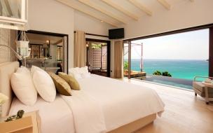 Una casa de playa su interior