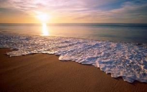 Playas y la espuma de las olas