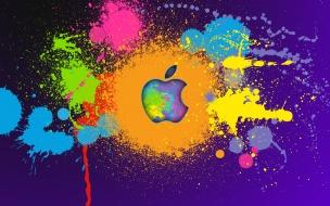 Arte digital y logo de Apple