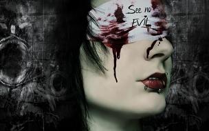 Mujer sangrando