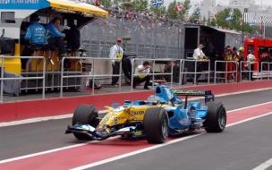 Autos F1 en las pistas