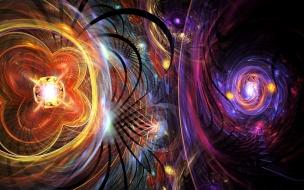 Luces de neon abstractas