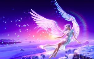 Una chica con alas