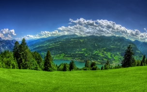 Bello valle de verde